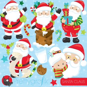 Santa Claus clipart commercial use, vector graphics, digit