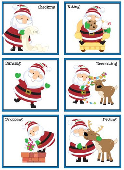 Santa Claus in Action Verb Bundle