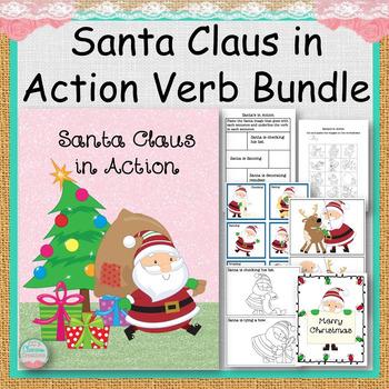 Santa Claus in Action Verb Bundle