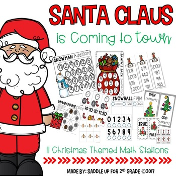 Santa Claus is Coming to Town: Glittery Math Centers