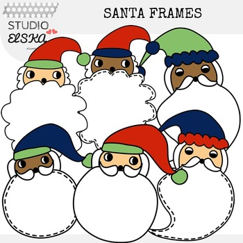 Santa Claus Frames Christmas Clipart (Studio ELSKA)