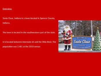 Santa Clause , Indiana - A great christmas town Power Point