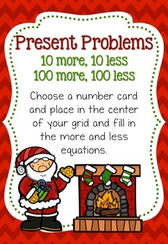 Santa Claus is Coming to Town Christmas- 8 Math Centers