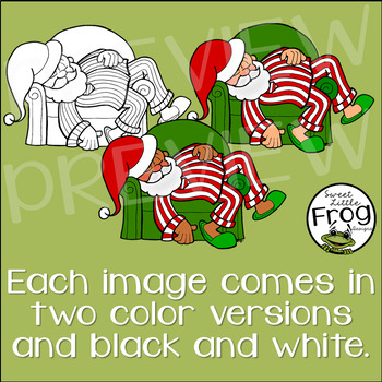 Santa Clip Art: A Day in the Life with Santa
