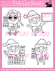 Christmas Clip Art - Santa - Personal or Commercial Use
