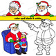 Santa Clip Art | Santa with signs