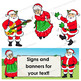 Santa Clip Art   Santa with signs
