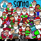 Santa Clip Art Set - Chirp Graphics