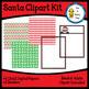 Santa Clipart Kit (clipart, digital papers, borders)