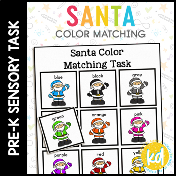 Santa Color Matching Folder Game for Early Childhood Special Education
