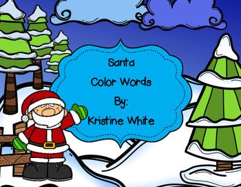 Santa Color Words Activity