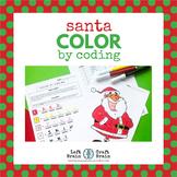 Santa Color by Coding Coloring Page