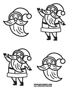 Santa Face Coloring Pages - GetColoringPages.com   350x270
