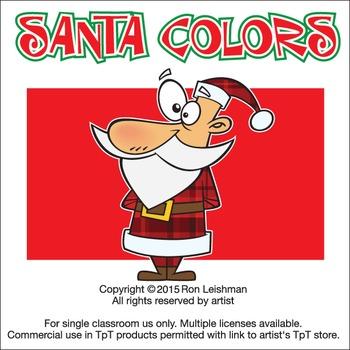 Santa Colors Cartoon Clipart