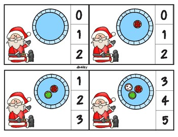 Santa Cookie Count Clip Cards through 20