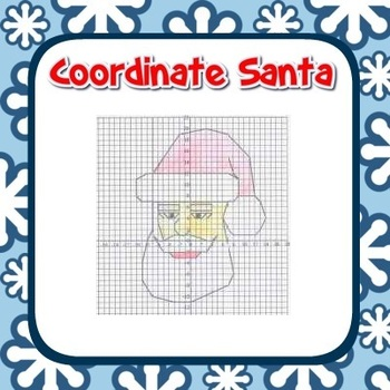 Santa Coordinate Graphing Fun! - Ordered Pairs, Blank Grid, all 4 Quadrants