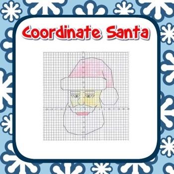 Santa Coordinate Graphing Fun! - Ordered Pairs, Blank Grid