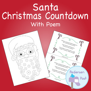Santa Count Down to Christmas and Poem