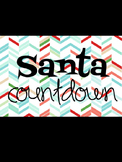 Santa Countdown - Countdown to Christmas Holiday Break