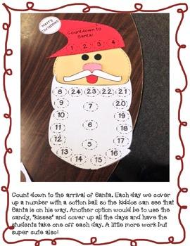 Santa Countdown Craft and Writing Activities