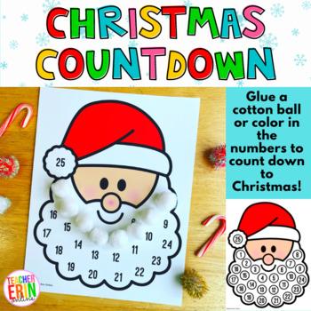 Santa Countdown To Christmas Craft | Reward Incentive | Advent Calendar