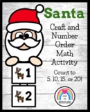 Santa Craft Activity: Counting Math Center for Christmas
