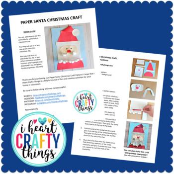 Santa Craft Activity -Cut and Paste Christmas Craft