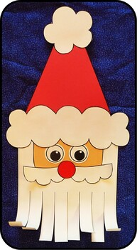 Santa Craft Template --- Santa Claus Cut and Paste Craft ...