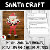Santa Craft Template with Writing Activities