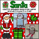 Santa Craftivity, Readers Response, and Writing Activities #ATeachersDollaDays