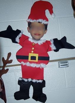 Santa Craftivity (YOUR students become santa!) for Christmas