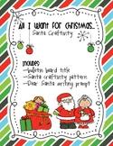 Santa Craftivity and Writing Prompt