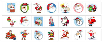 Santa Cutting Strips