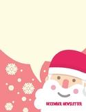 Santa December Newsletter Template