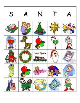 Santa Descriptive Bingo