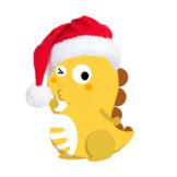 VIPKID Santa Hat Dino-Merry Christmas