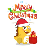 Santa Dino Merry Christmas-VIPKID