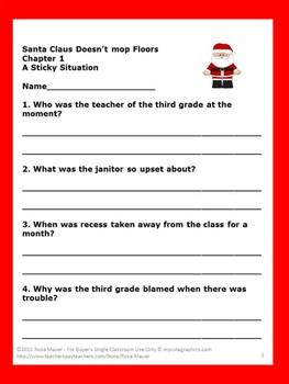 Santa Claus Doesn't Mop Floors Bailey School Kids Book Unit