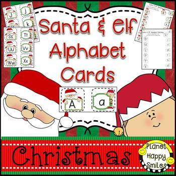 Alphabet Matching Cards ~ Santa & Elf/Christmas