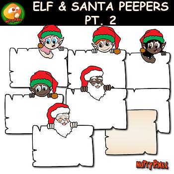 Santa & Elves Peepers Christmas Clip Art Pt2