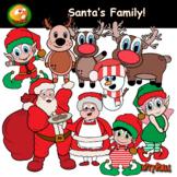 Santa, Elves, Reindeer, Snow man, Mama Clause & more! - Christmas CLIPART