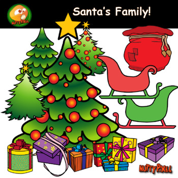 Santa, Elves, Reindeer, Snow man, Mama Clause & more! - Christmas CLIPART