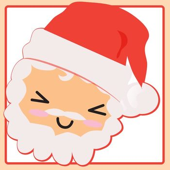 Santa Expressions Kawaii Character Clip Art Set for Commercial Use