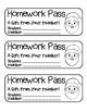"""Santa Face"" Homework Pass –Holiday FUN! (full color & black line version)"