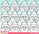 Santa Faces Christmas Clip Art
