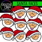 Santa Faces {Creative Clips Digital Clipart}