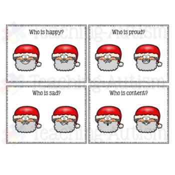Santa Feelings / Emotions Task Cards