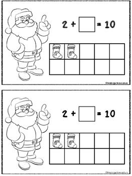 Santa Fill 10 ( A Make 10 Booklet)