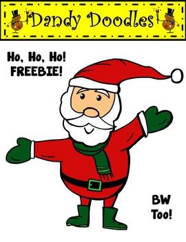 Santa Freebie Christmas Clip Art