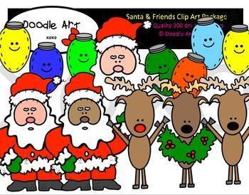 Santa & Friends Clipart Pack